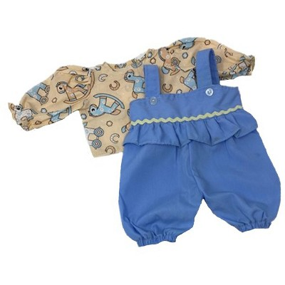 Doll Clothes Superstore Blue Romper With Rocking Horse Print Shirt Fits 15-16 Inch Baby Dolls