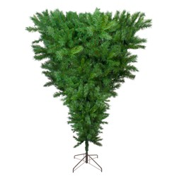 Northlight 9' Unlit Artificial Christmas Tree Sugar Pine Upside Down