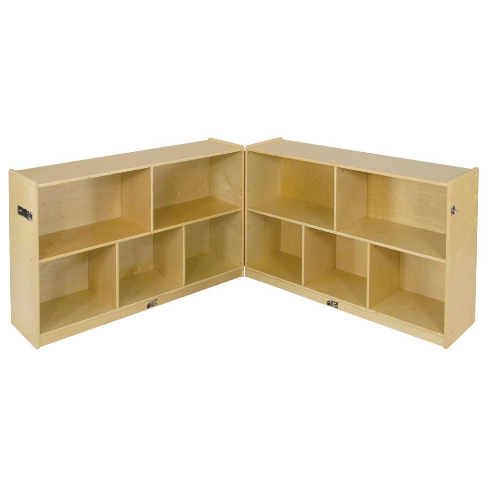Kids' 5 Compartment Fold & Lock Cabinet 30 - ECR4Kids, Wood