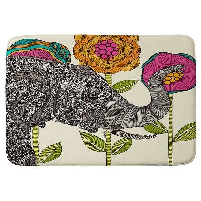 "Valentina Ramos Aaron Elephant Cushion Bath Mat (36""x24"") Pink - Deny Designs"