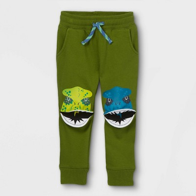 Toddler Boys' Dino Knee French Terry Pull-On Jogger Pants - Cat & Jack™ Green