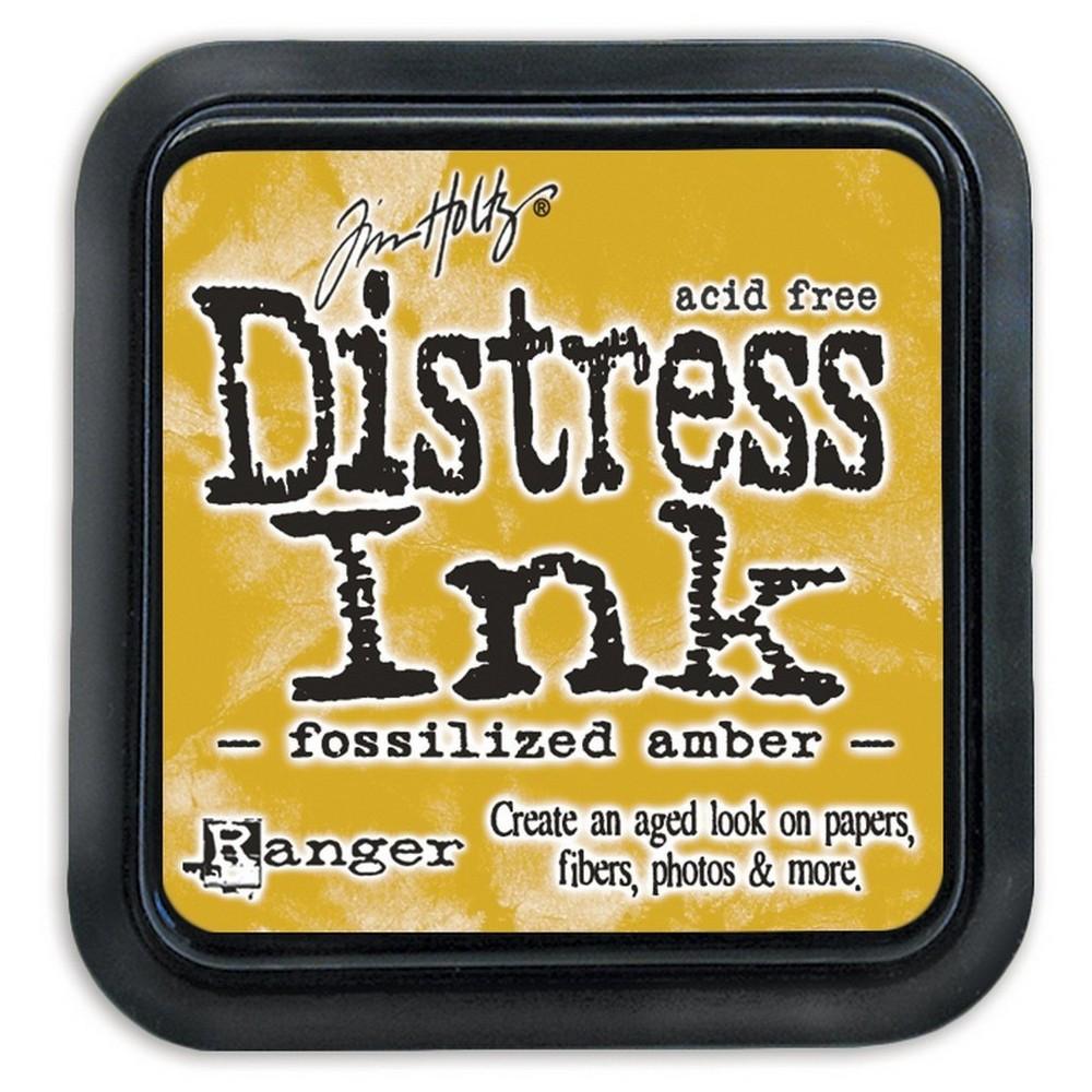 Tim Holtz Distress Ink Pad-Fossilized Amber 2.25
