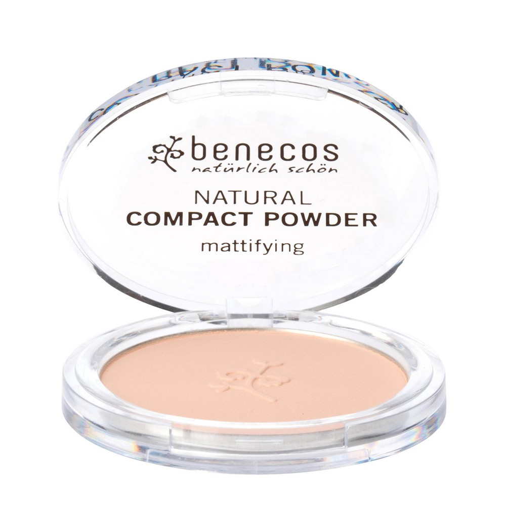 Image of benecos Natural Compact Powder Mattifying Pink - 0.31oz