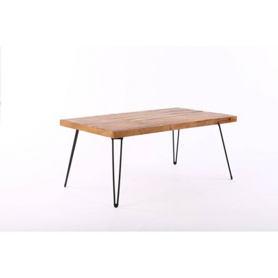 """42"""" Exeter Coffee Table Natural/Black - Summerland Home"""