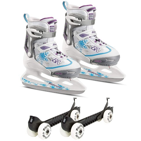 Rollerblade Bladerunner Micro Ice G Skates, Small and Skate Guard Rollers (Pair) - image 1 of 4
