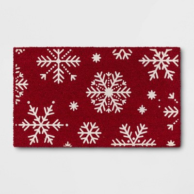 Snowflake with Flocking Doormat - Threshold™