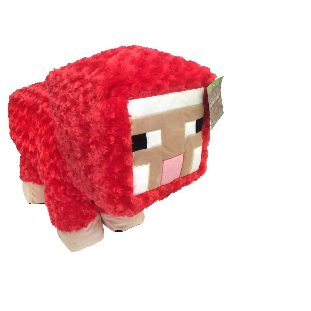 Minecraft Red Sheep Throw Pillow