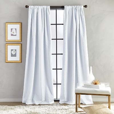 """63""""x52"""" Bloomsbury Poletop Curtain Panel White - CHF Industries"""