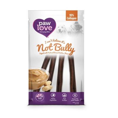 Paw Love Not Bully Peanut Butter Sticks Dog Treats - 4ct