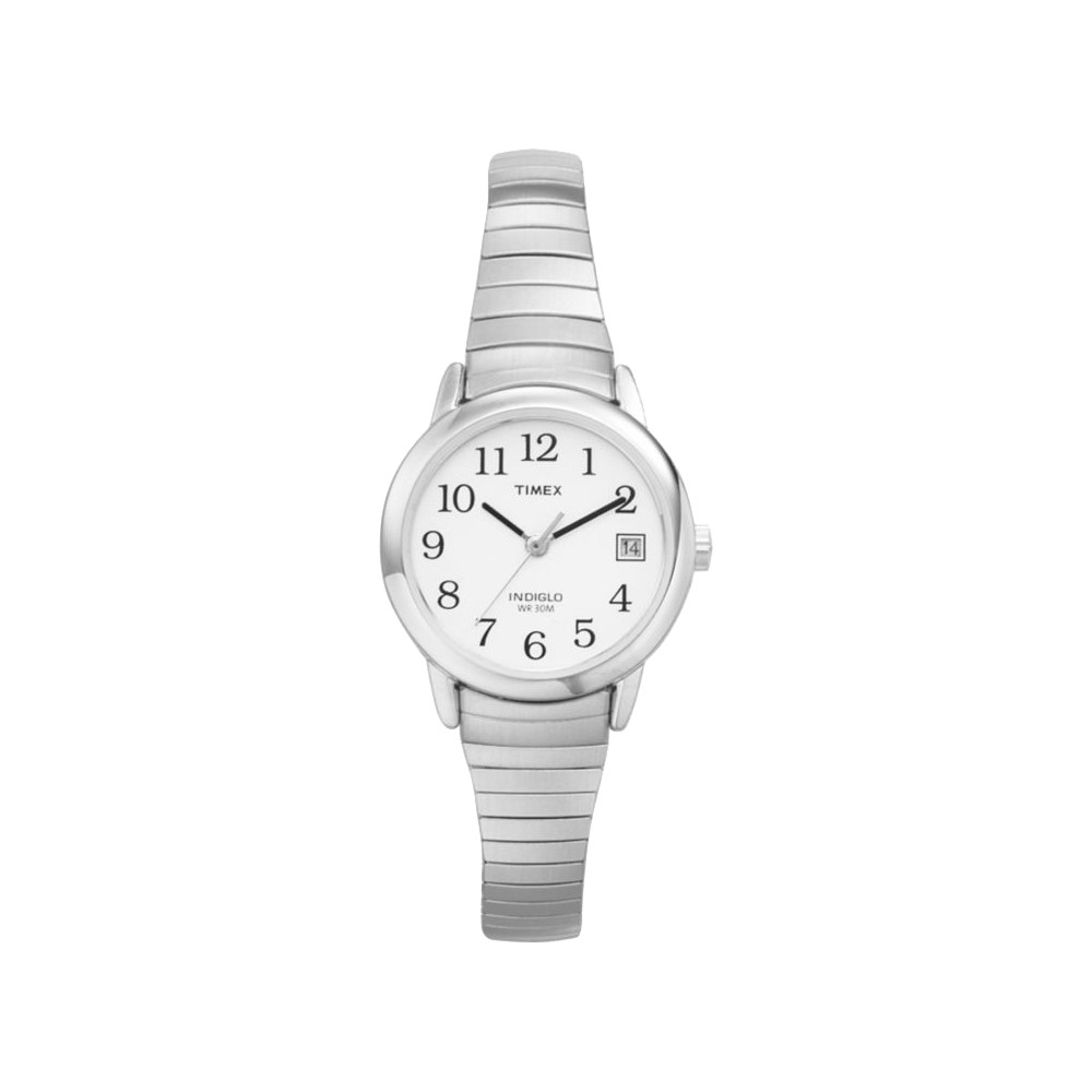 Image of Women's Timex Easy Reader Expansion Band Watch - Silver T2H371JT, Women's, Size: Small