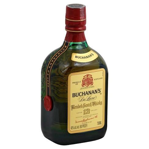 Buchanans 12 year De Luxe Blended Scotch Whisky - 750ml Bottle - image 1 of 1