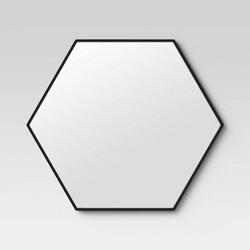 "30"" x 26"" Metal Hexagon Mirror MDF Back - Project 62™"