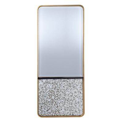 "20"" x 48.25"" Honat Rectangular Decorative Wall Mirror Gold/Black - Southern Enterprises"