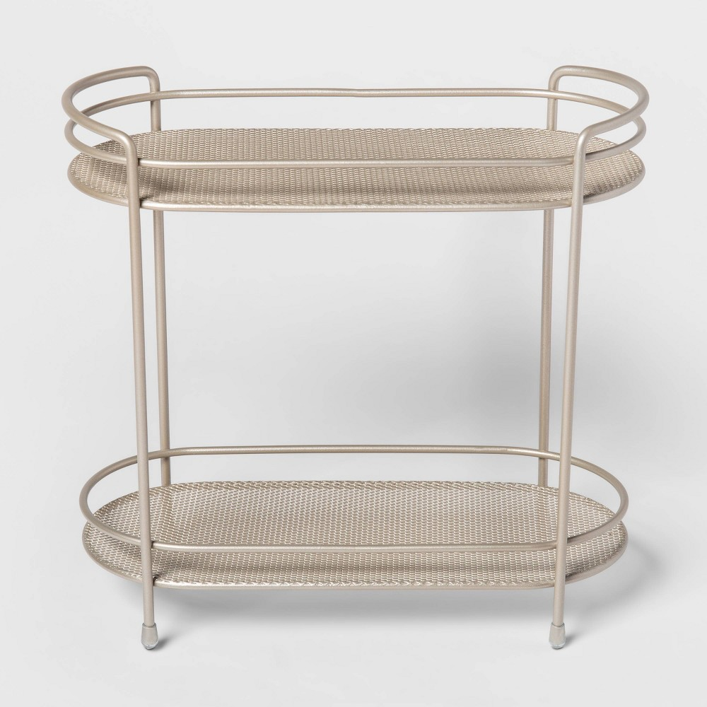 Image of Two Tier Oval Shelf Mesh Brushed Nickel - Threshold