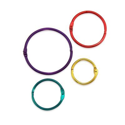 HYGLOSS Metallic Book Rings Pack Of 36 61336