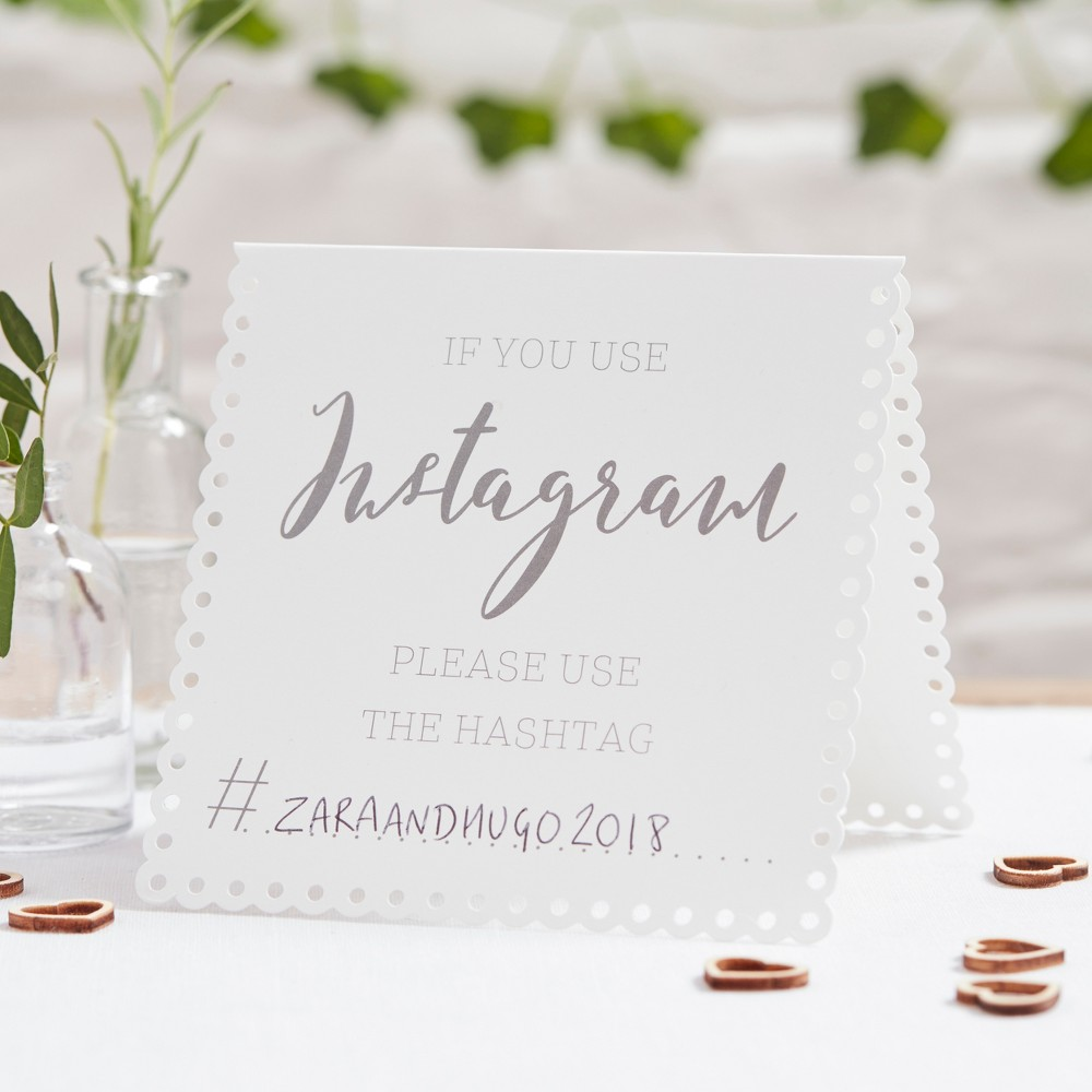 Image of 5ct Instagram Tent Cards, White Black