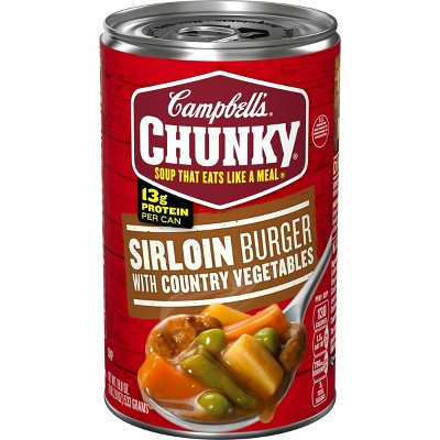 Campbell's Chunky Sirloin Burger with Country Vegetables Soup - 18.8oz