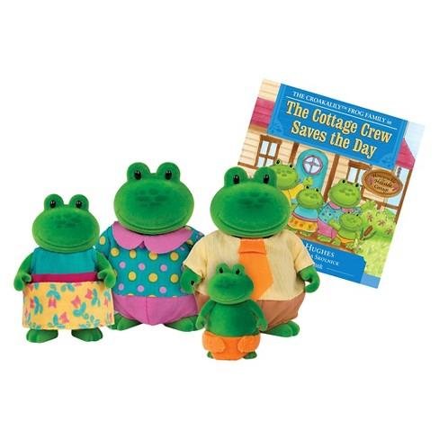 Li'l Woodzeez Miniature Animal Figurine Set - Croakalily Frog Family - image 1 of 4