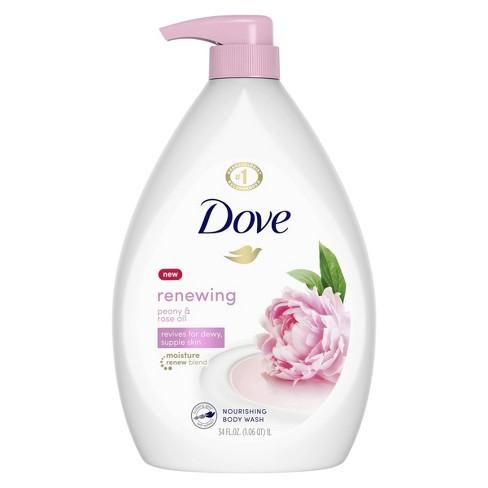 Dove Renewing Peony Rose Oil Nourishing Body Wash 34 Fl Oz Target