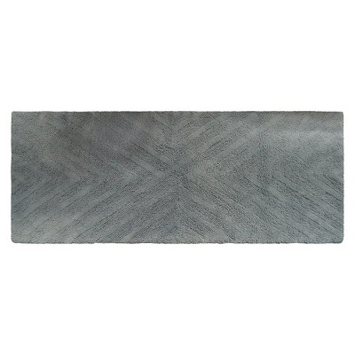 Textured Stripe Bath Rug Runner (23 X58 )Gray Aqua - Project 62™ + Nate Berkus™