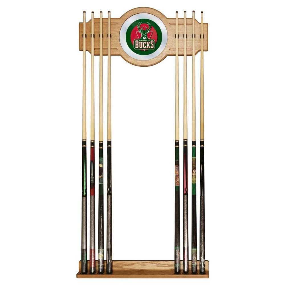 Milwaukee Bucks Billiard Cue Rack with Mirror