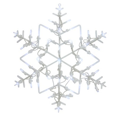 "Northlight 18"" LED Lighted Snowflake Christmas Window Silhouette Decoration"