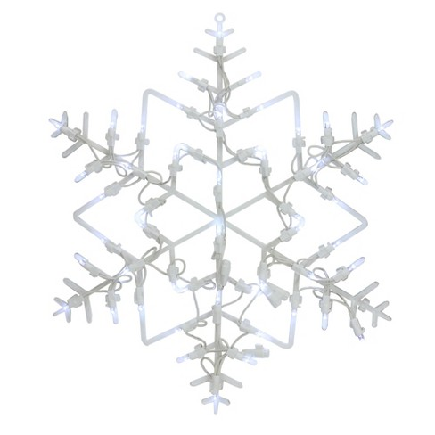 "Northlight 16"" LED Lighted Snowflake Christmas Window Silhouette Decoration - image 1 of 4"