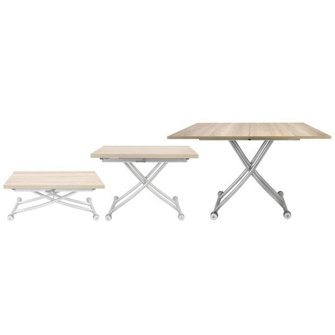 Tremendous Spacemaster Co2219 Lgtwd Transforming Foldable Coffee Dining Table Light Wood Gmtry Best Dining Table And Chair Ideas Images Gmtryco