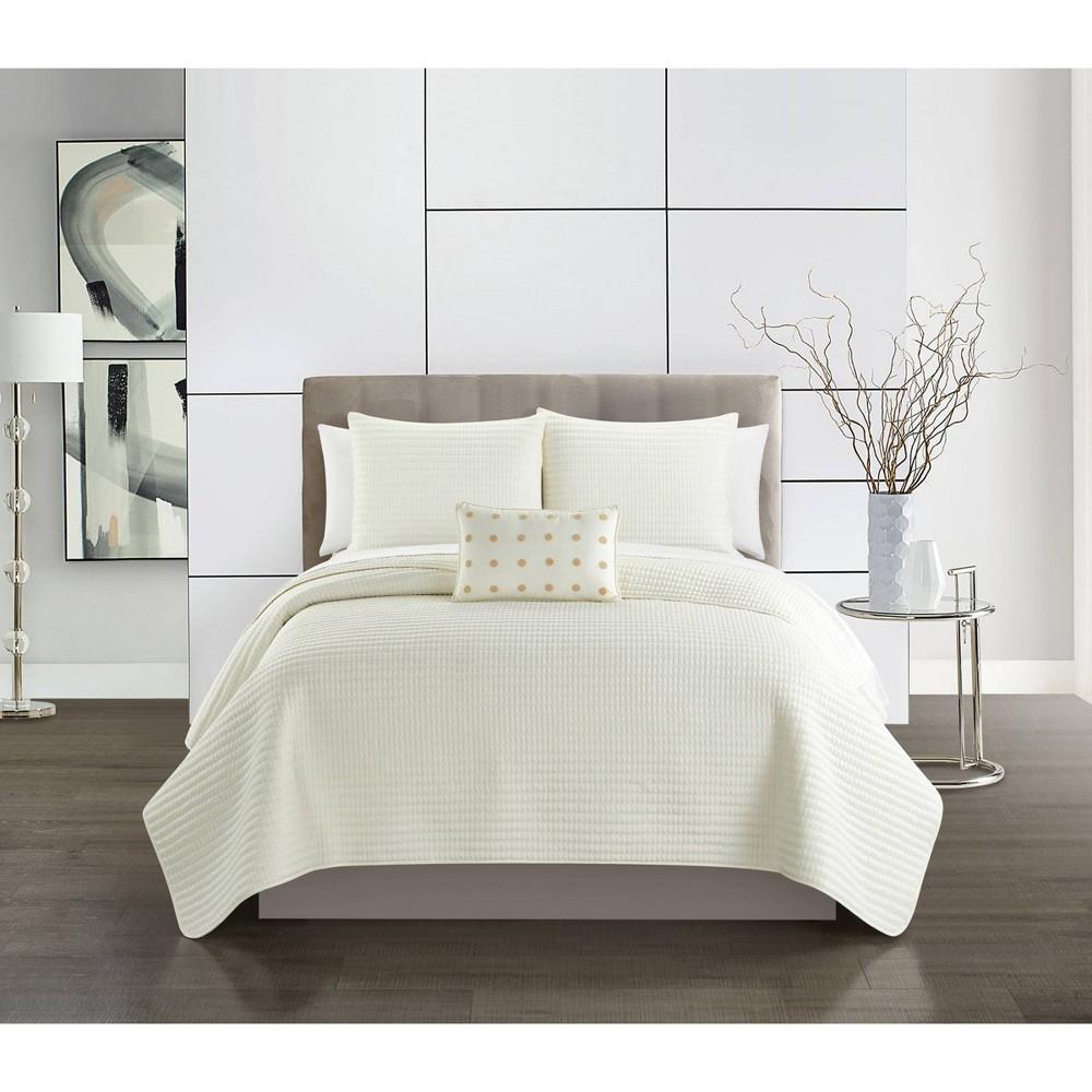 King 8pc Rylan Bed In A Bag Quilt Set Beige Chic Home Design