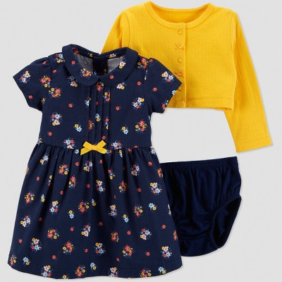 Baby Girls' 2pc Floral Dress Set - Just One You® made by carter's Navy 3M