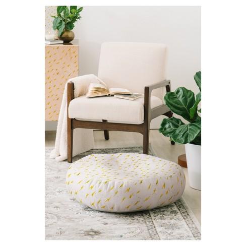 """Holli Zollinger Folka Bolt Floor Pillow (23"""") White - Deny Designs® - image 1 of 2"""