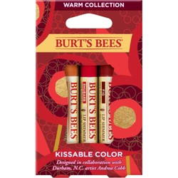 Burt's Bees Kissable Color Kit - Warm Collection - 3ct