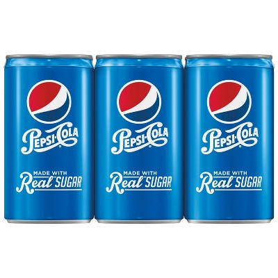 Pepsi Real Sugar - 6pk / 7.5 fl oz Mini-Cans