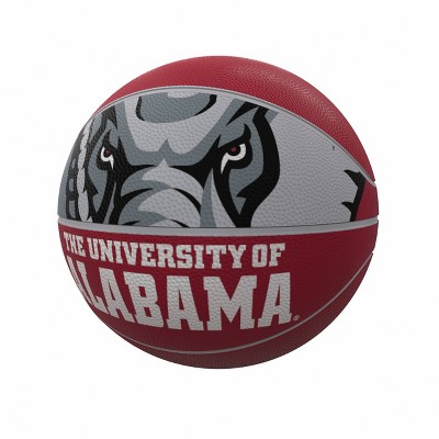 NCAA Alabama Crimson Tide Logo Brands Official-Size Rubber Basketball