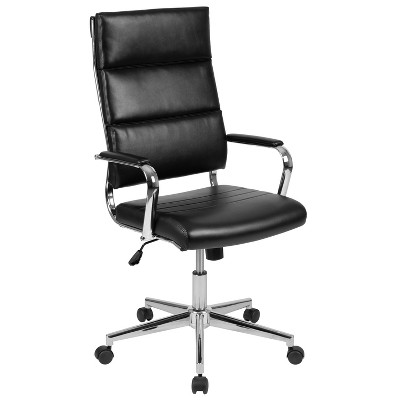 Flash Furniture High Back LeatherSoft Contemporary Panel Executive Swivel Office Chair