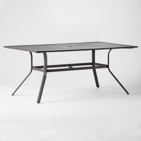 View Photos Play Threshold Marrion Rectangle Patio Dining Table