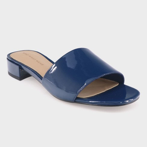 Women's Mae Patent Heeled Slide Sandals - Who What Wear™ - image 1 of 3