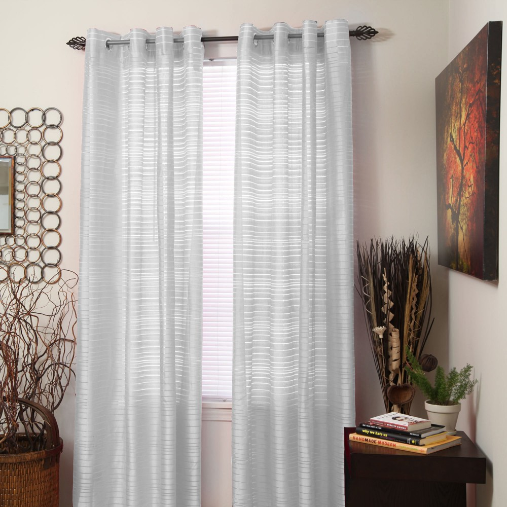 Yorkshire Home Maggie Grommet Curtain Panel - White (54