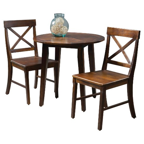 Carridge 3pc Round Wood Dining Set Rich Mahogany - Christopher Knight Home