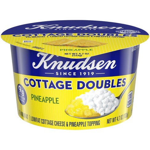 Knudesen 2% Lowfat Cottage Cheese With Pineapple Topping - 3.9oz - image 1 of 3