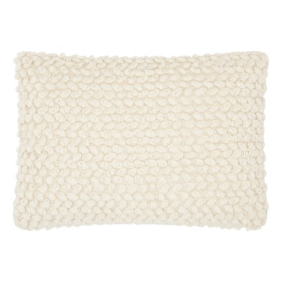 Light Off-White Mosaic Throw Pillow - Mina Victory