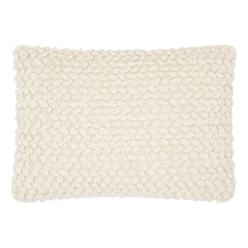 Image of Light Off-White Mosaic Throw Pillow - Mina Victory