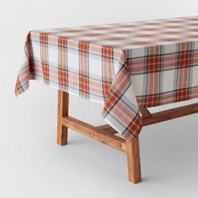 "84"" x 60"" Cotton Yarn Dyed Plaid Tablecloth - Threshold™"