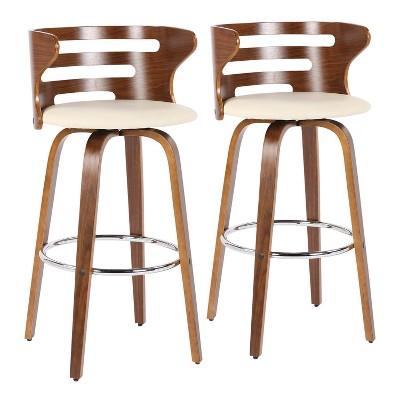 Set of 2 Cosini Mid-Century Modern Barstools with Swivel - LumiSource