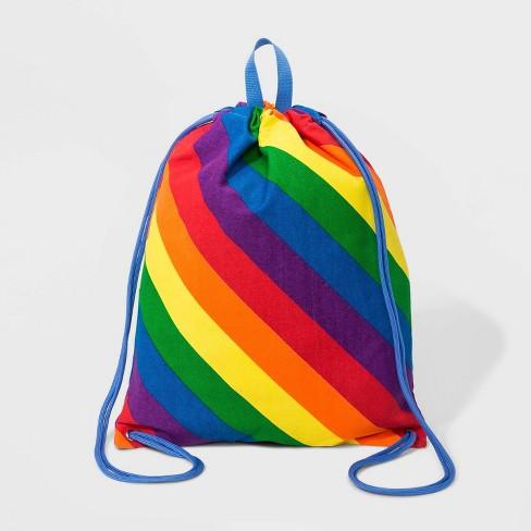 Pride Striped Rainbow Drawstring Bag - image 1 of 3