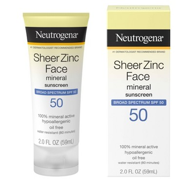 Sunscreen & Tanning: Neutrogena SheerZinc