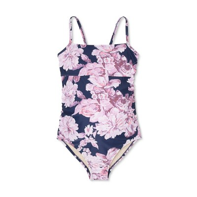 Maternity Floral Print Square Neck with Tie Back One Piece Swimsuit - Isabel Maternity by Ingrid & Isabel™