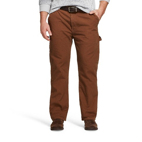 Dickies Men's Big & Tall Relaxed Straight Fit Canvas Flannel-Lined Carpenter Jeans - image 1 of 3