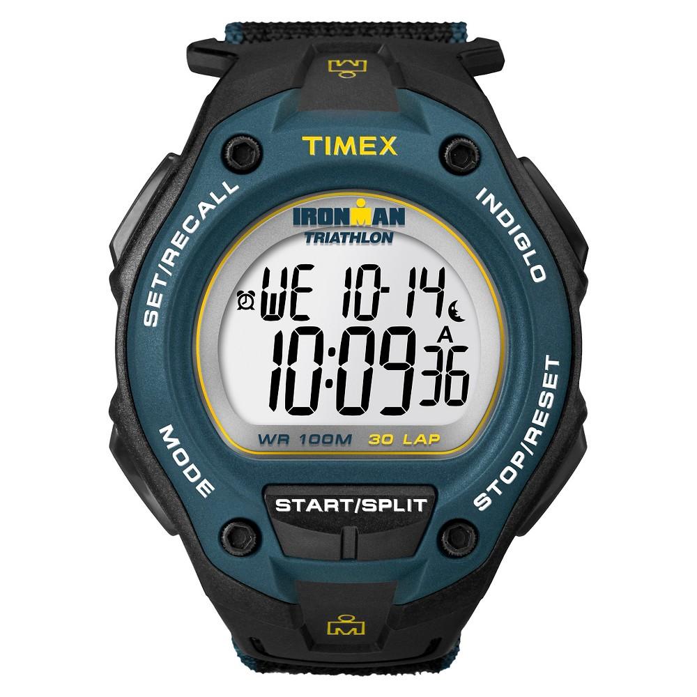 Men 39 S Timex Ironman Classic 30 Lap Digital Watch Black Blue T5k413jt