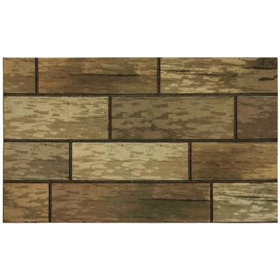 1'6 X2'6  Wood Grain Design Doormats Brown - Mohawk